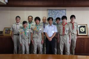 菊章受章スカウト八千代市長顕彰